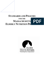 standards and policies for the ma elderly nutrition program