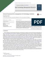 General framework for management of technology evolution