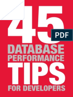 45 Tips Database Performance Tips for Developers