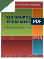 230 Grupos Espaciales Desarrollados