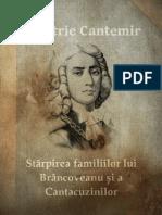 Dimitrie Cantemir - Starpirea Familiilor Lui Brancoveanu Si Cantacuzinilor