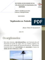Presentacao Trabalho 1 - Argilosolos.pptx