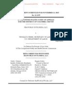 SeaWorld vs OSHA- SeaWorld Reply Brief to Dept of Labor Brief- US Court of Appeals Washington DC