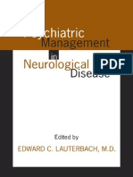 Psychiatric Management in Neurological Disease