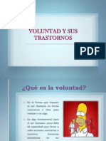 Voluntad y Sus Trastornos