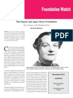 The Eugene and Agnes Meyer FoundationThe real legacy of the Washington Post