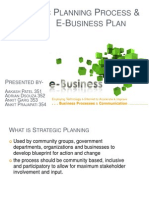 Strategic Planing Process and e-business plan
