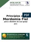 Principios de MordomiaFiel Para Boletim 2013