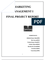 Marketing Management i Final Project Report