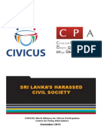Sri Lanka Report  SRI LANKA'S HARASSED