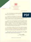 Lobbying Bill Part 2 pause letter