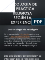 PSICOLOGIA DE LA PRACTICA RELIGIOSA SEGÚN LA EXPERIENCIA
