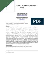 12 - MACHADO, Liliana Dias. O Papel Da Tutoria Em Ambientes de EAD