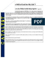 God's Will-Be Filled with Holy Spirit