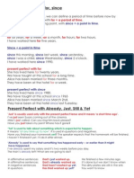 Present Perfect with for, since, yet, already, just.pdf