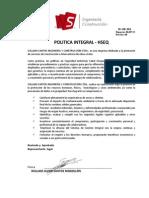 DI(GE)004 Política Integral