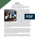 Quepos Monthly Achievement Report September 2013