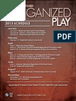 2013 OP Schedule