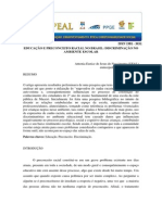 Educacao e Preconceito Racial No Brasil Discriminacao No Ambiente Escolar