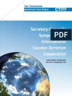 United Nations Secretary-General's Symposium on International Counter-Terrorism Cooperation (2011) uploaded by Richard J. Campbell