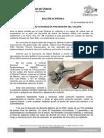 07 de noviembre de 2013_MANTIENE SSO ACCIONES DE PREVENCIÓN DEL CÓLERA.doc