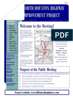I-45 North project meeting notice