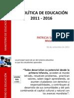 Politica Educativa 2011-2016