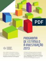 Regulamento Estímulo 2013