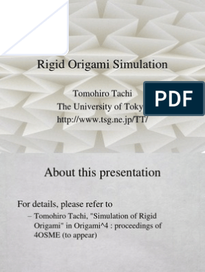 PPT - Rigid Origami Simulation PowerPoint Presentation, free ... | 396x298