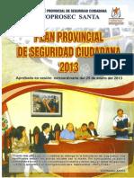 Ver Aqui El Nuevo Pan Provincial de Seguridad Ciudadana 2013 Coprosec Santa.