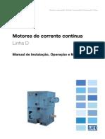 WEG Motor de Corrente Continua 10218369 Manual Portugues Br