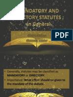 Mandatory and Directory Report