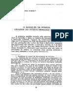 O marques de pombal - criador do ensino primário oficial