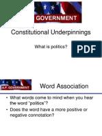 AP Constitutional Underpinnings