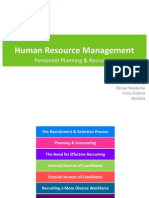 HRM-Personnel Planning and Recruiting (Dessler, 2012)