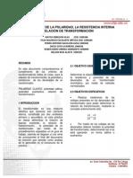 DETERMINACIÓN DE LA POLARIDAD