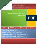 Projeto Basico Chamada Publica n 002 2013