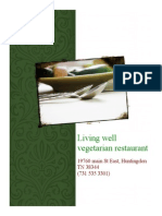 living well vegetarian menu