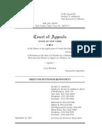 James Holmes v. Jana Winter Brief for Petitioner-Respondent.