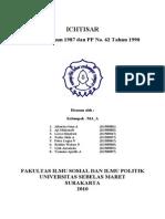 ICHTISAR UU No.8 Tahun 1987 dan PP No. 62 Tahun 1990