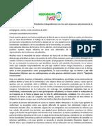 Comunicado Independientes Con Voz - 12-11-2013