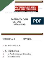 VITAMINAS FARMACOLOGIA