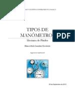 TIPOS DE MANÓMETROS