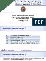 3. Métodos de Difraccion de Rayos X 2013b
