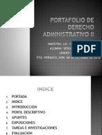 Portafolio de Derecho Administrativo II
