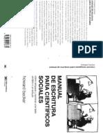 0 Becker, H. (2012(1986)) Manual de Escritura Para Cientificos Sociales