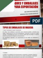 Empaques y embalajes para exportación
