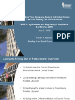 2009.05.05 Defending Your Company Against Individual Cases; Lawsuits Arising Out of Foreclosure.pdf