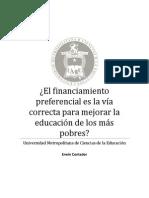 El financiamiento preferencial es la vía correcta para mejorar la educación de los más pobres.docx