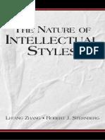 Li-Fang Zhang Robert J. Sternberg the Nature of Intellectual Styles Educational Psychology 2006